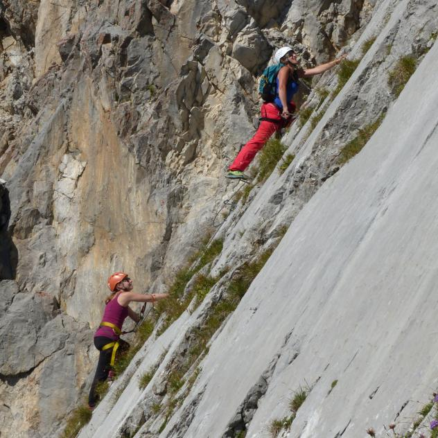 Videmanette Via Ferrata, route 1