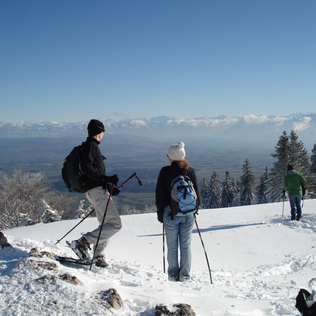 Skis, cross-country skis, snowshoes rental - St-Cergue