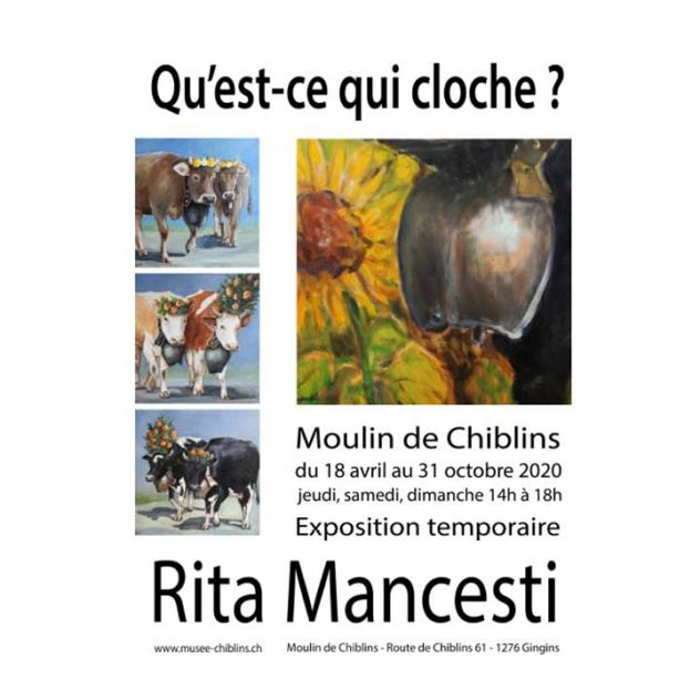Exhibition of Rita Mancesti - Moulin de Chiblins