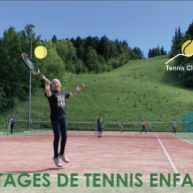 Stages de tennis enfant