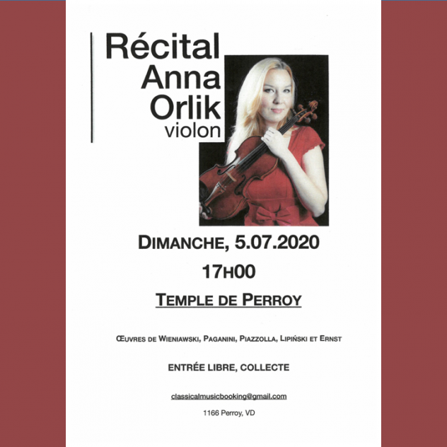 Classical music recital - Perroy Temple
