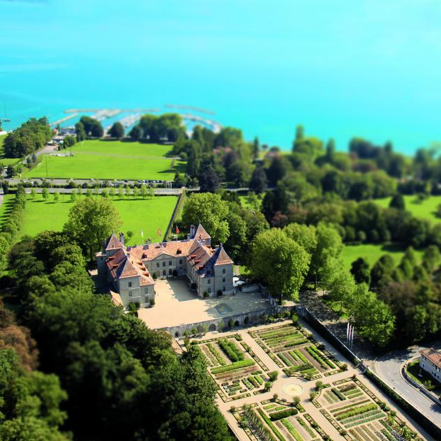 Openair Cinema in Castle court in Prangins
