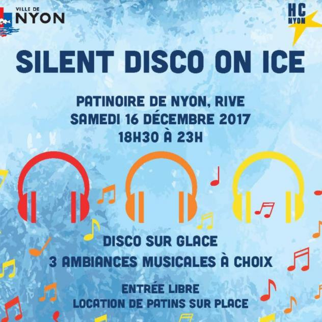 Silent Disco on ice à la patinoire de Nyon