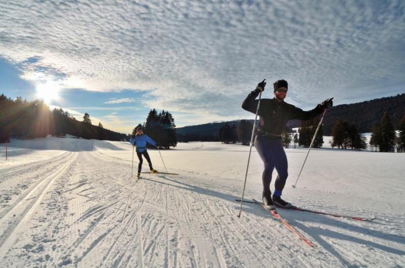 Cross-country skiing - Sainte-Croix/Les Rasses © Claude Jaccard / www.vaud-photos.ch