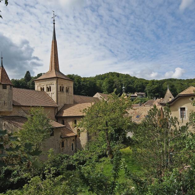 "Romainmôtier, member of ""The Most Beautiful Villages in Switzerland"""