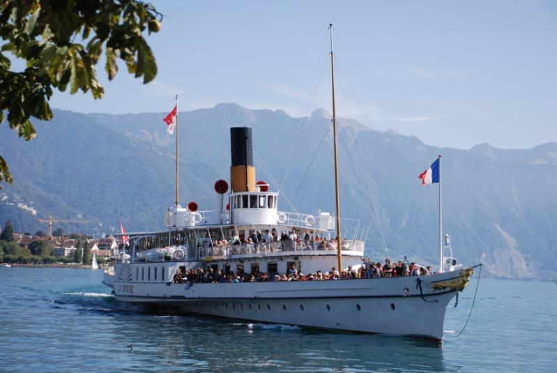 Private cruises by the CGN on Lake Geneva © Collection CGN