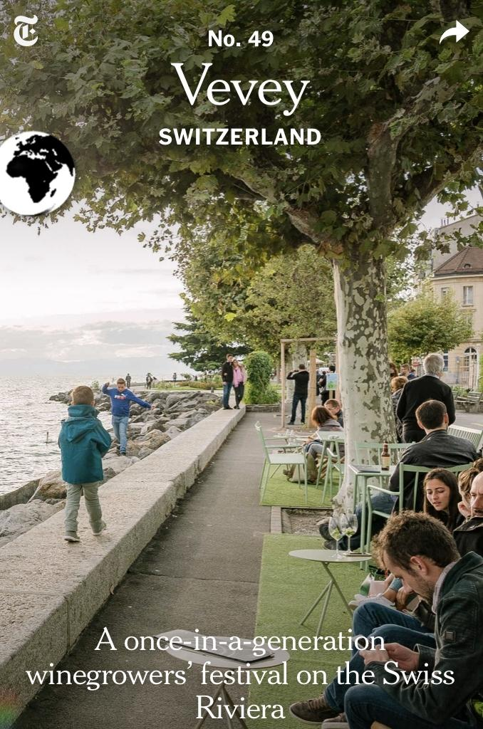Photo de Vevey dans le Yew York Times