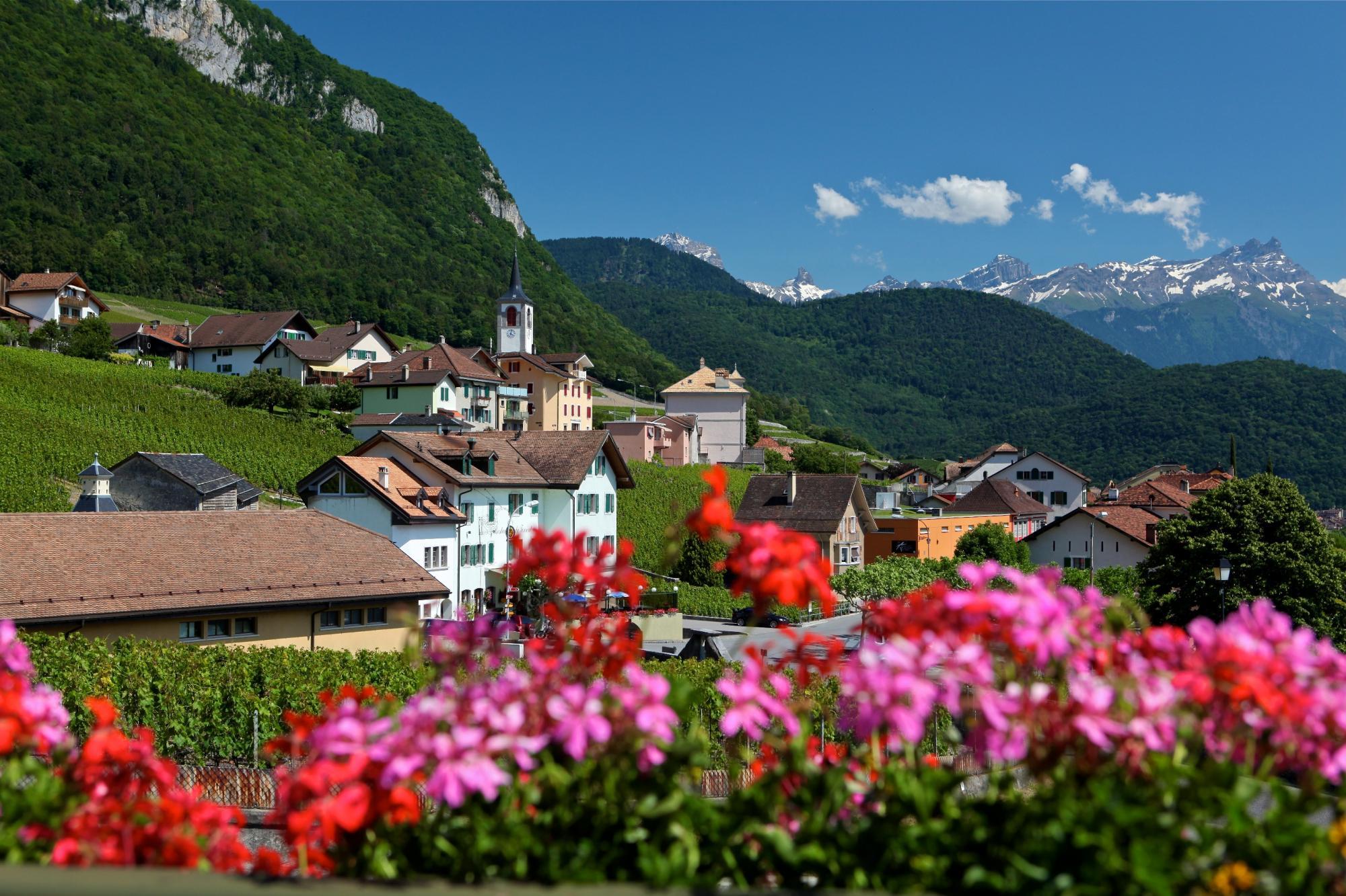 Yvorne, classé parmi les plus beaux villages de Suisse
