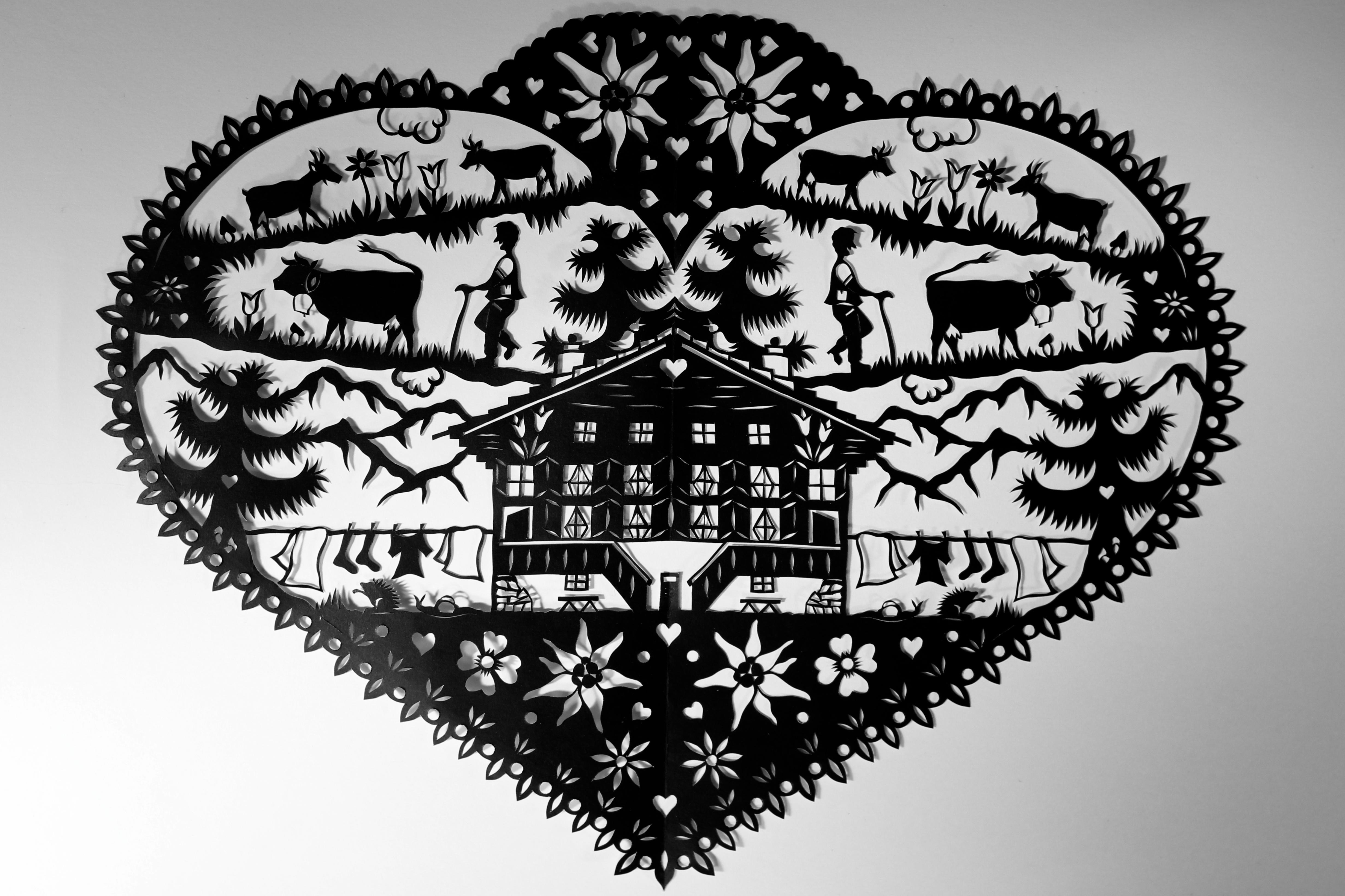 l 39 art du papier d coup pays d 39 enhaut suisse. Black Bedroom Furniture Sets. Home Design Ideas