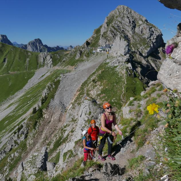 Videmanette Via Ferrata, route 2