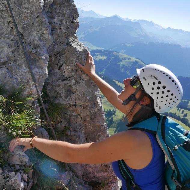 Videmanette Via Ferrata, route 3