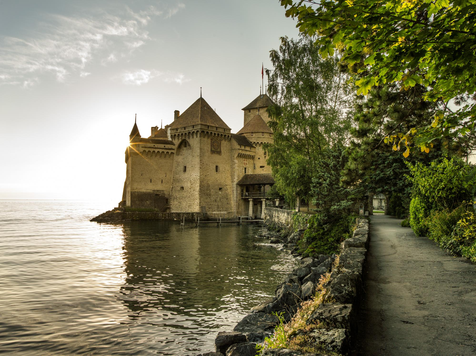 Chillon au bord du lac