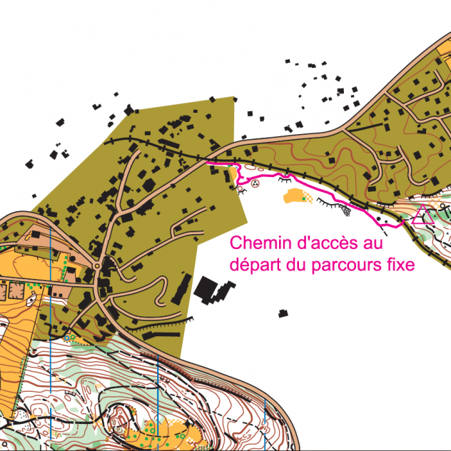 Orienteering parcours in St-Cergue