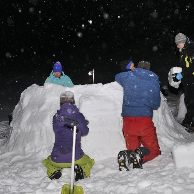 Igloo construction, snowshoeing outing - Simone évasion