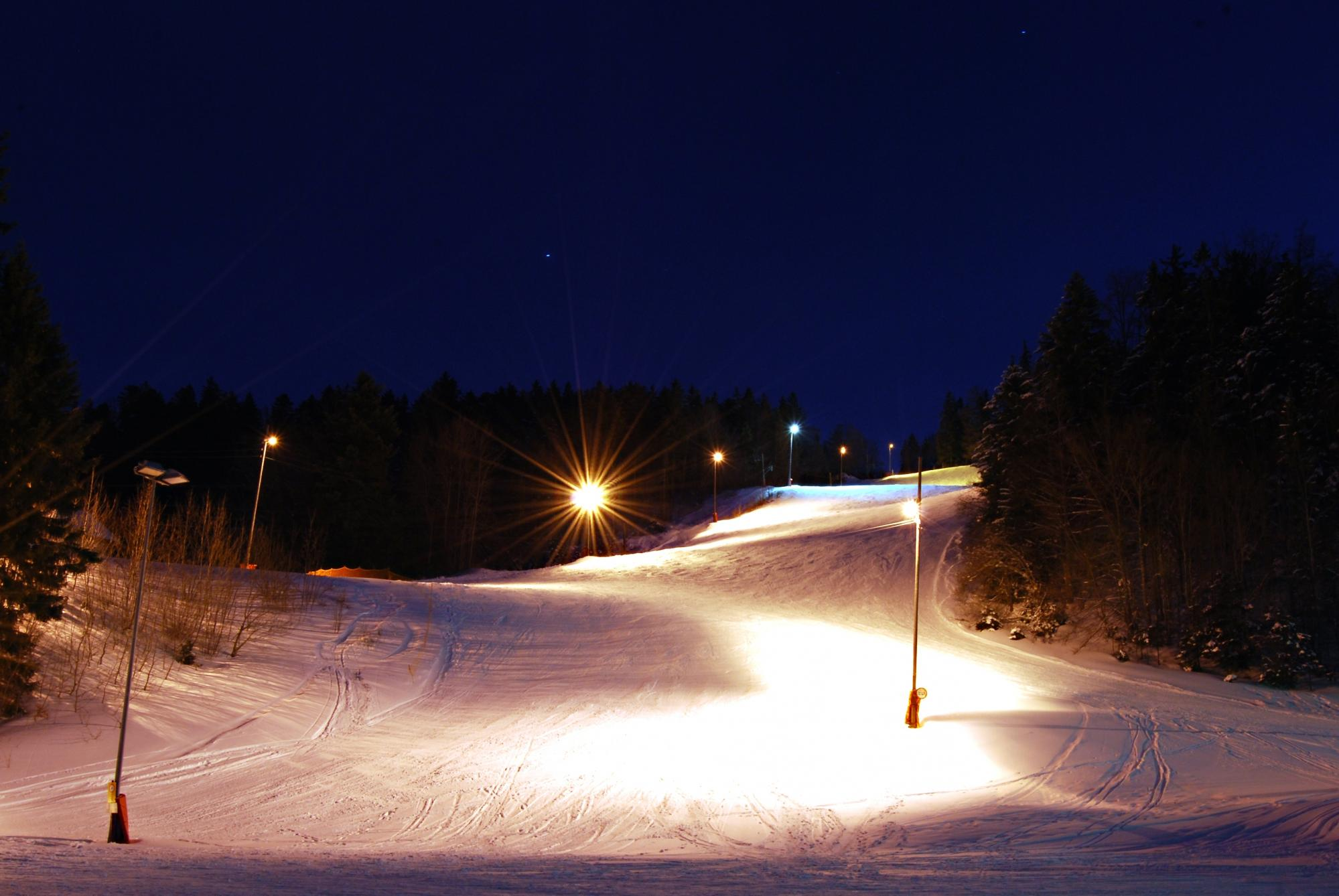 Floodlit trails, Saint-Cergue