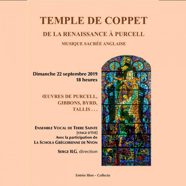 "Ensemble Vocal de Terre Sainte - ""De la Renaissance à Purcell"""