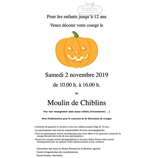 Atelier de décoration de courge - Moulin de Chiblins