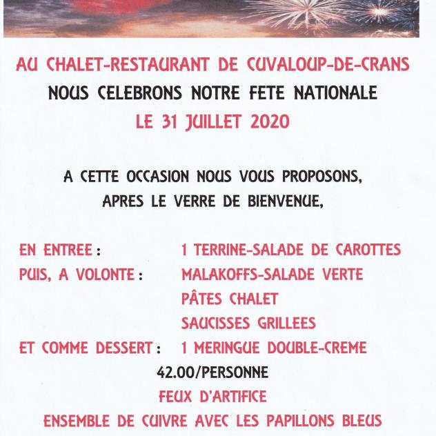 National holiday in Cuvaloup