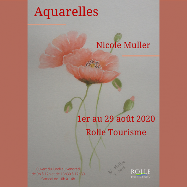 Exhibition - Nicole Muller - Rolle Tourist Office