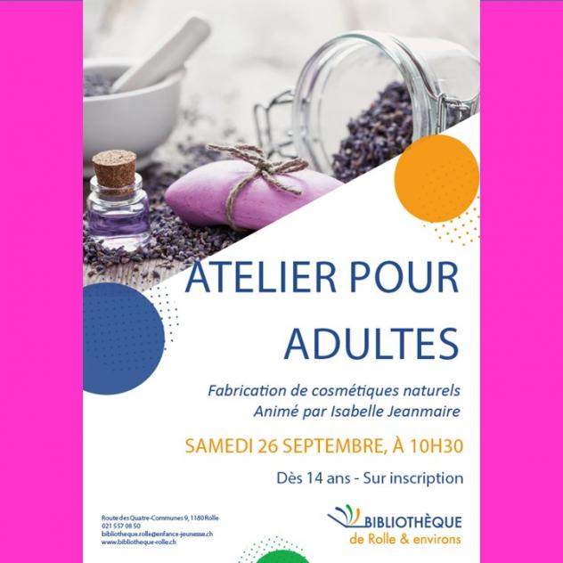 Workshop Naturkosmetik - Bibliothèque de Rolle