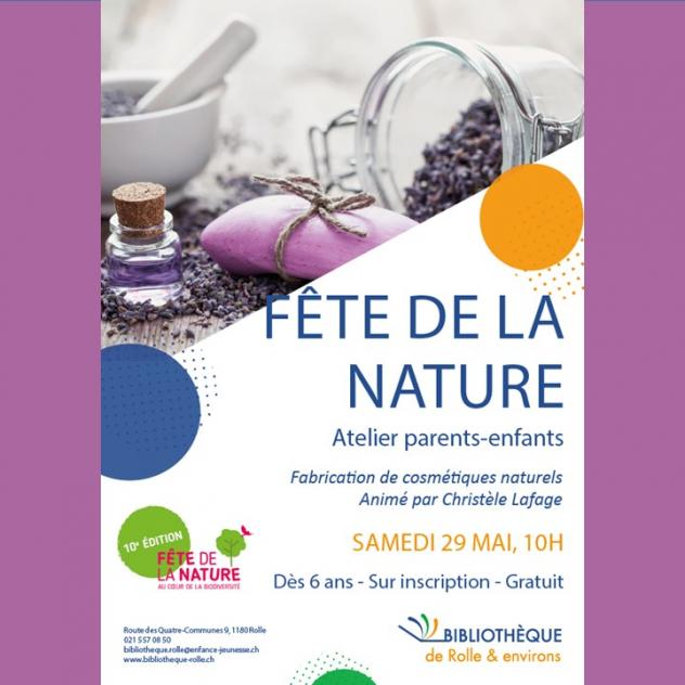 Fête de la Nature - Parents and children workshop - Rolle Library