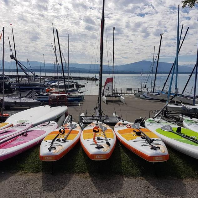 Stand up paddle and stand up paddle yoga - Crans