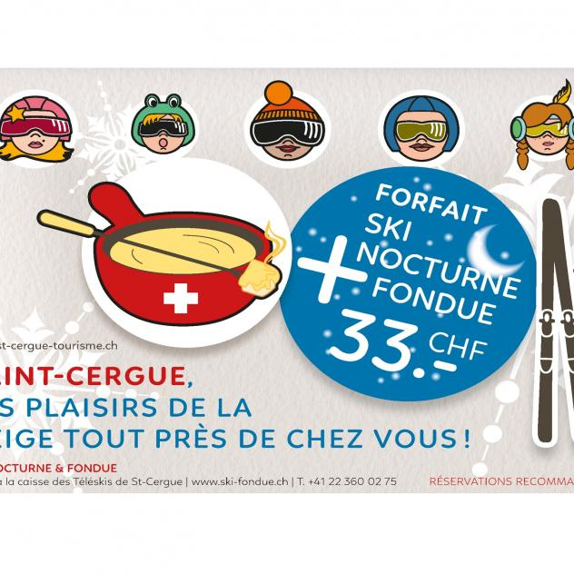 Skiing by night & Fondue - Package