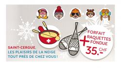 Forfait Raquettes + Fondue