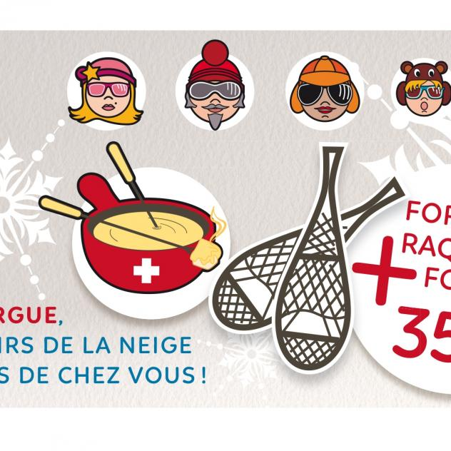 END OF THE SEASON - Snowshoes and Fondue - Package