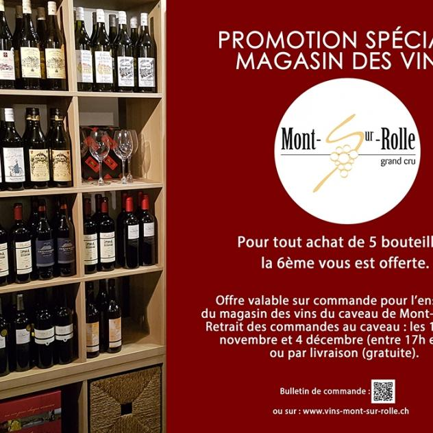 Promotion at the wine store of Caveau de Mont-sur-Rolle