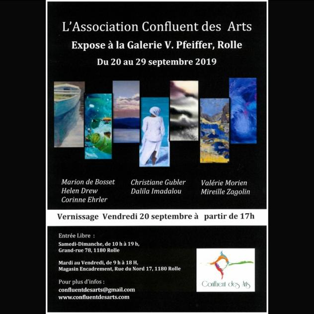 Exposition - Association Confluent des Arts - Galerie V.Pfeiffer