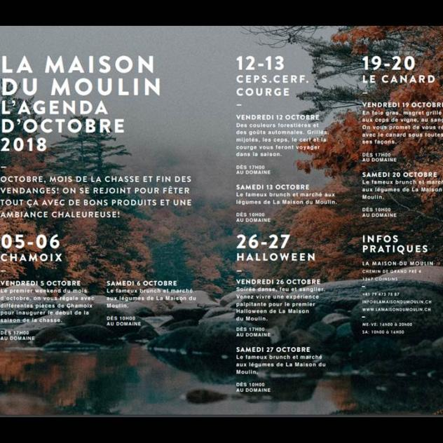 La Maison du Moulin - October 2018 agenda