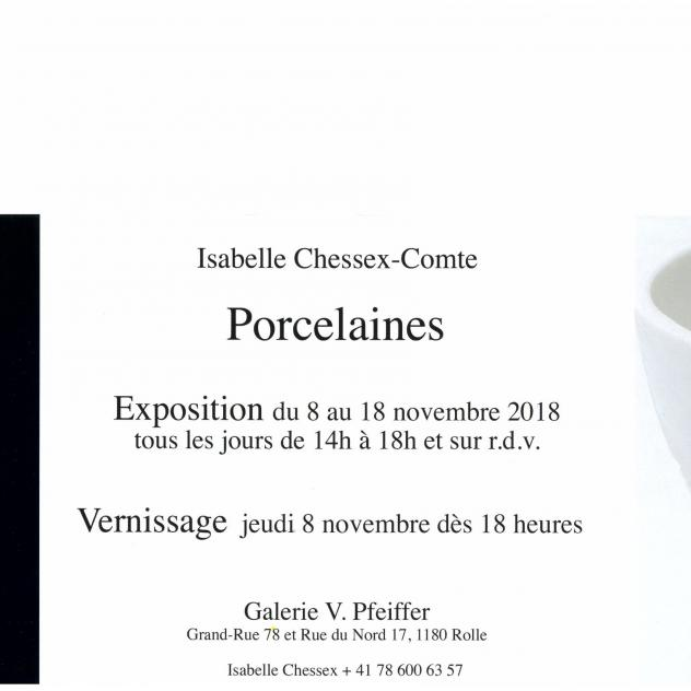 Exhibition Porcelaines Galerie Pfeiffer in Rolle