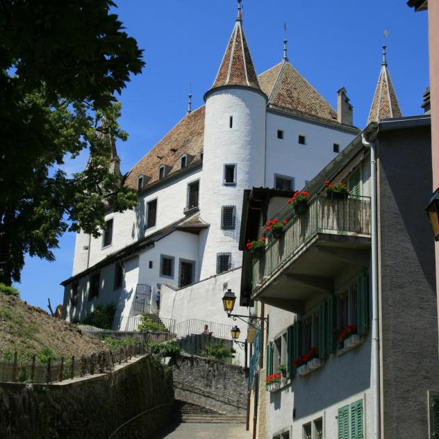 The attic of the castle, the granary of a museum - Nyon