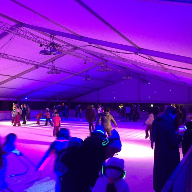 Silent Disco on ice at the ice rink of Nyon