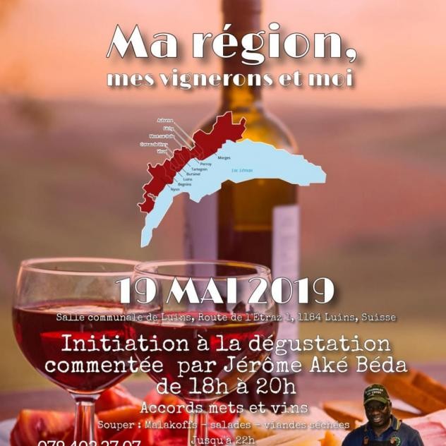 Wine tasting initiation, commented by Jérôme Aké Béda
