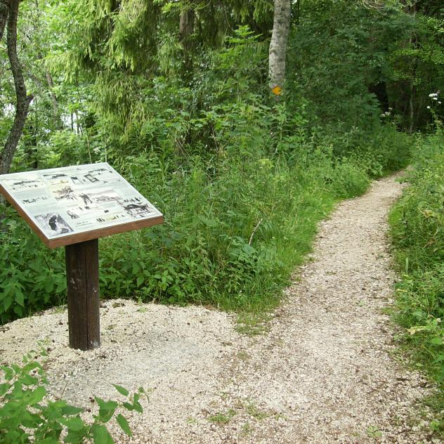 Brenet Lake didactic theme trail