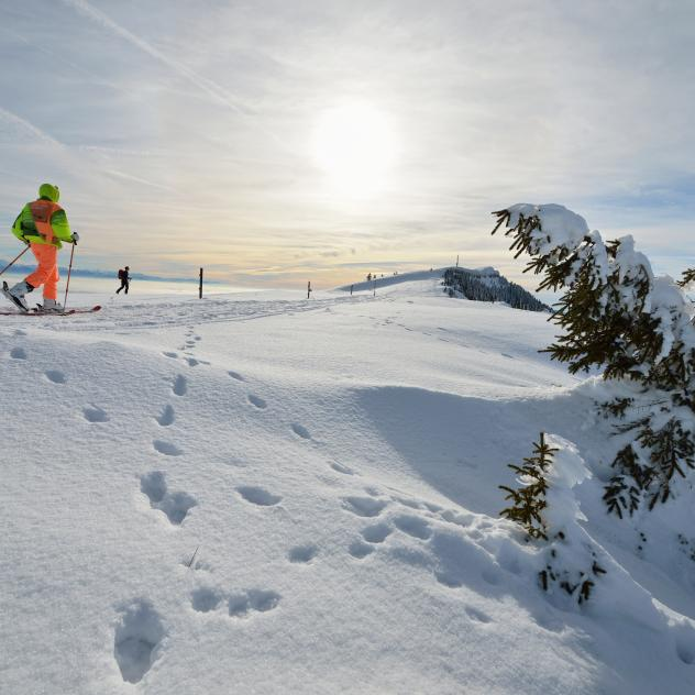 Ski touring on Chasseron