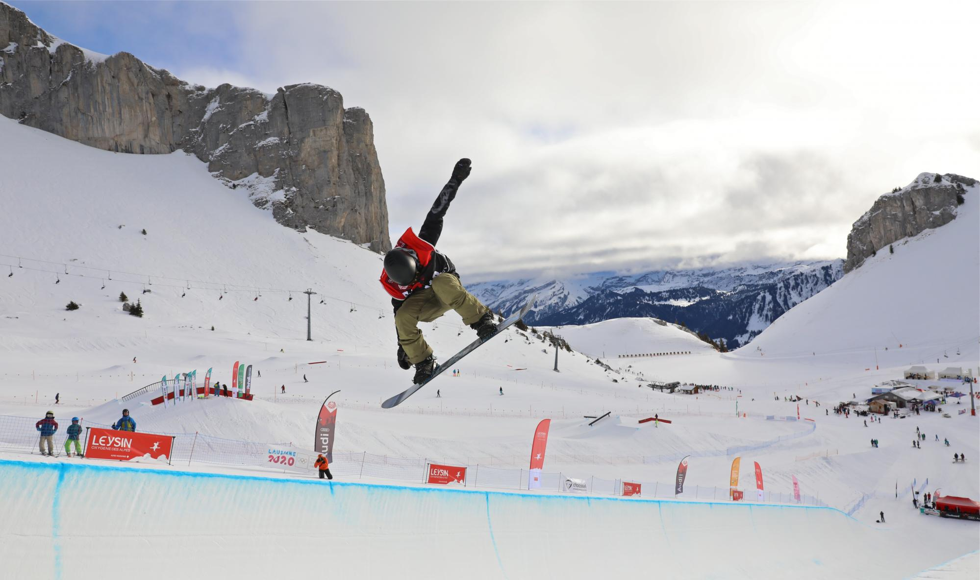 Freestyle Skiing At The 2020 Olympic Winter Games.Les Joj 2020 A Leysin Aigle Leysin Les Mosses