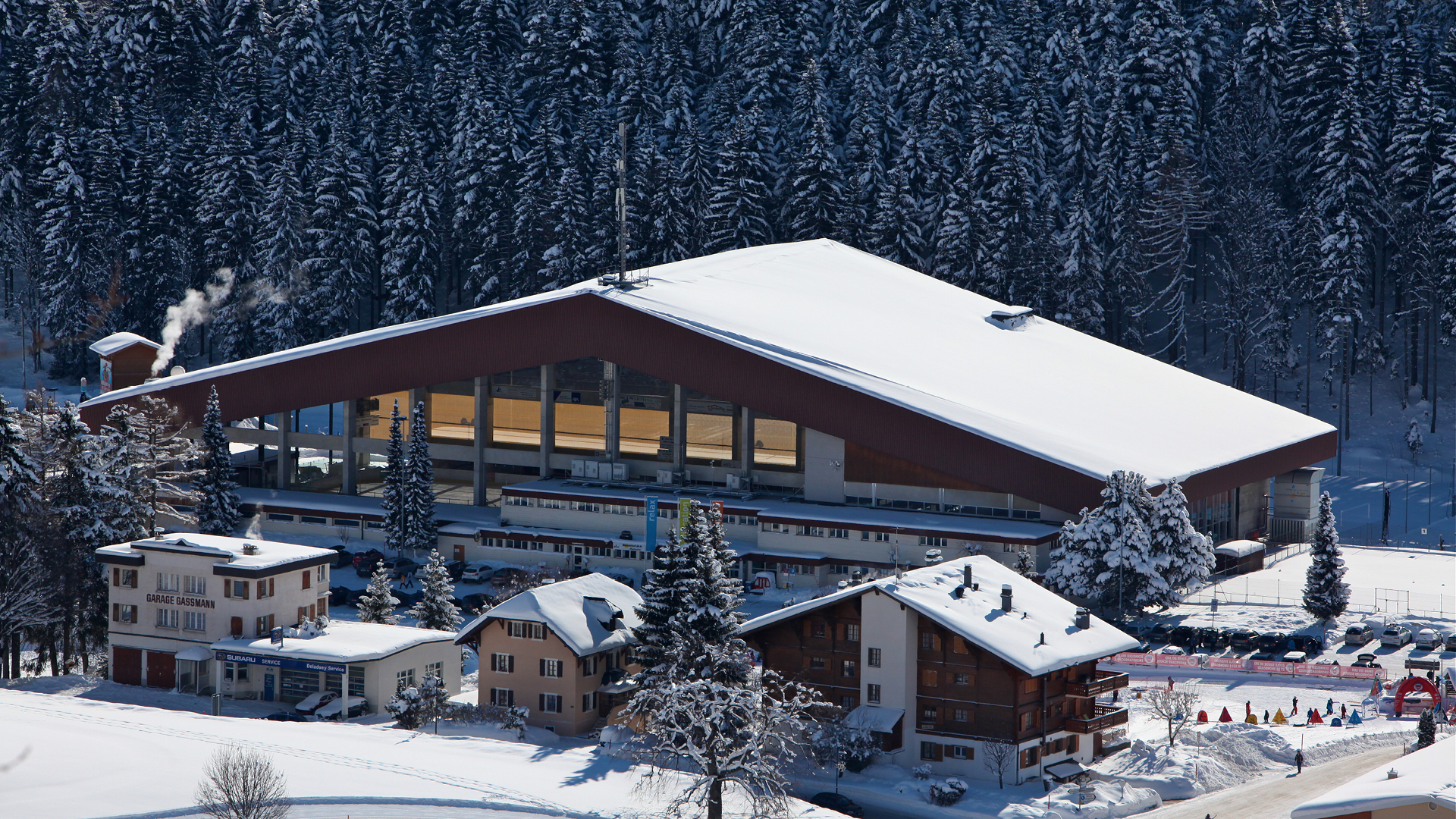 Sport Center der Eisbahn - Winter - Leysin
