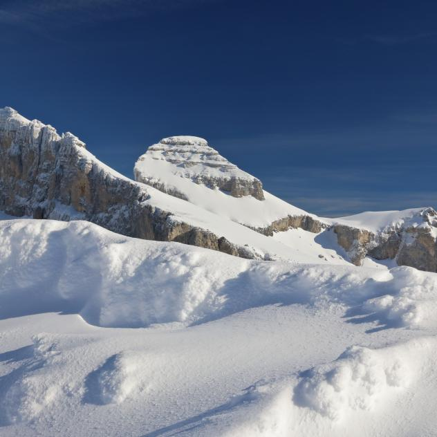 Leysin Winter Landschaft