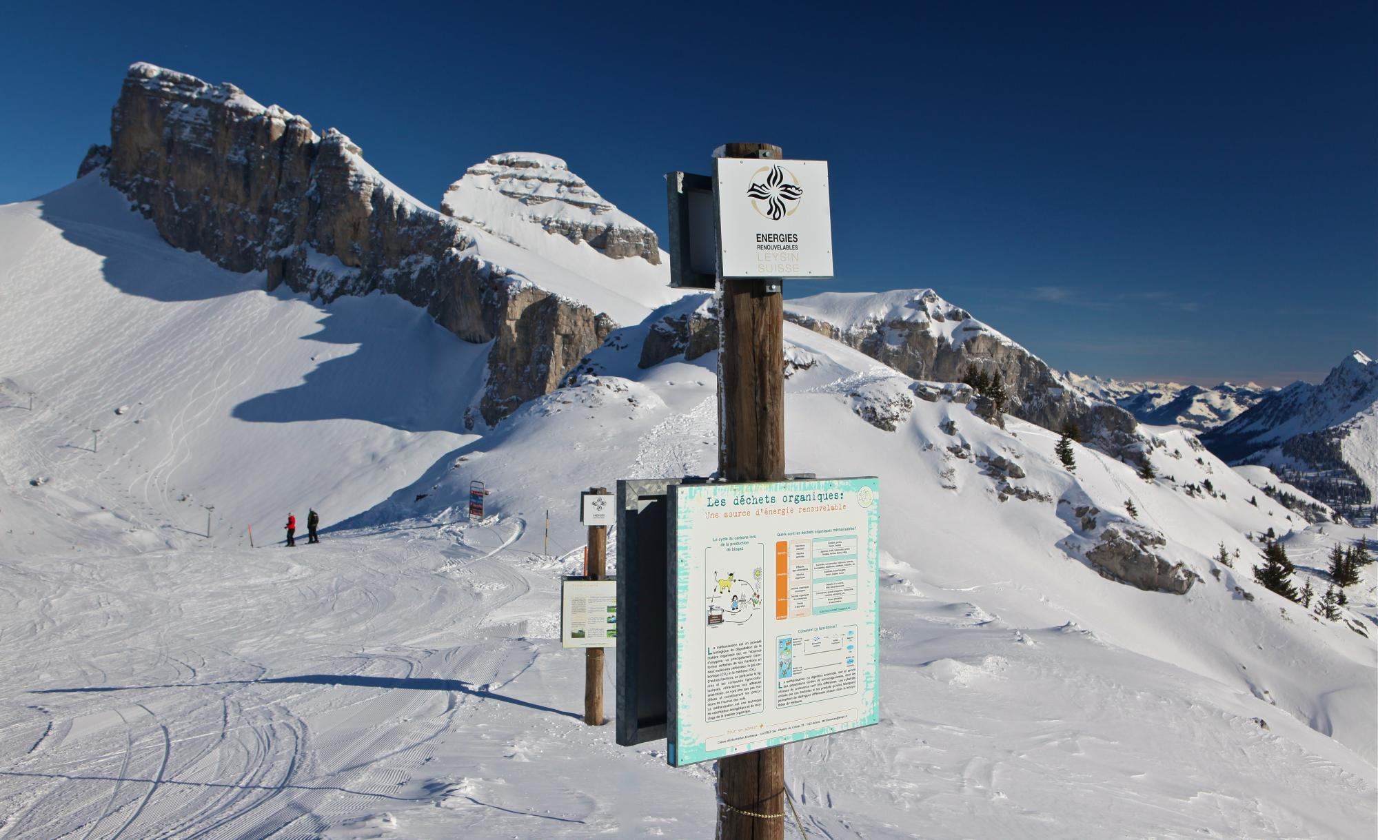 Renewable Energy Trail - winter - Leysin