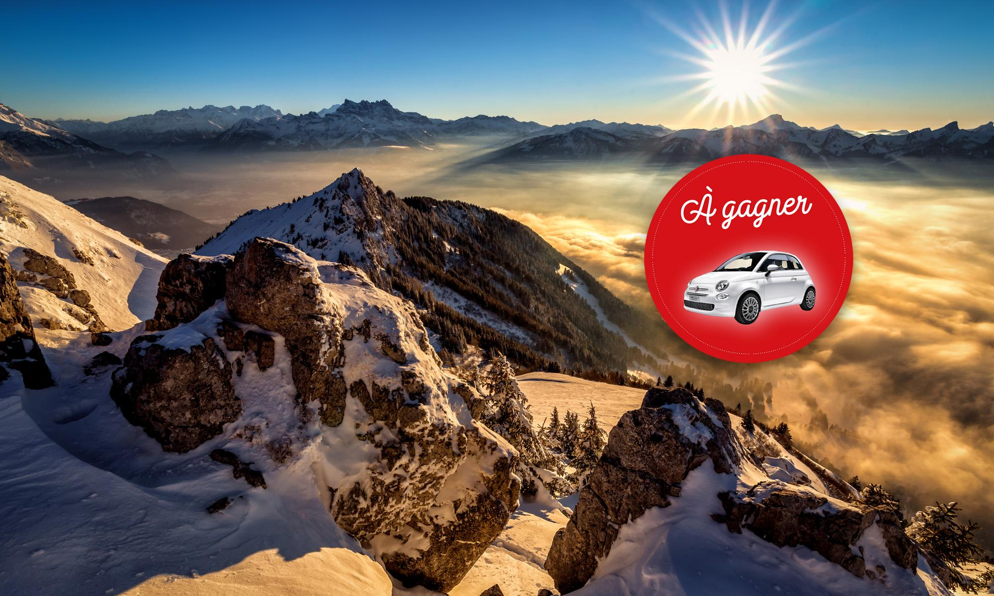 leysin - winter - sunset dents-midi - concours fiat