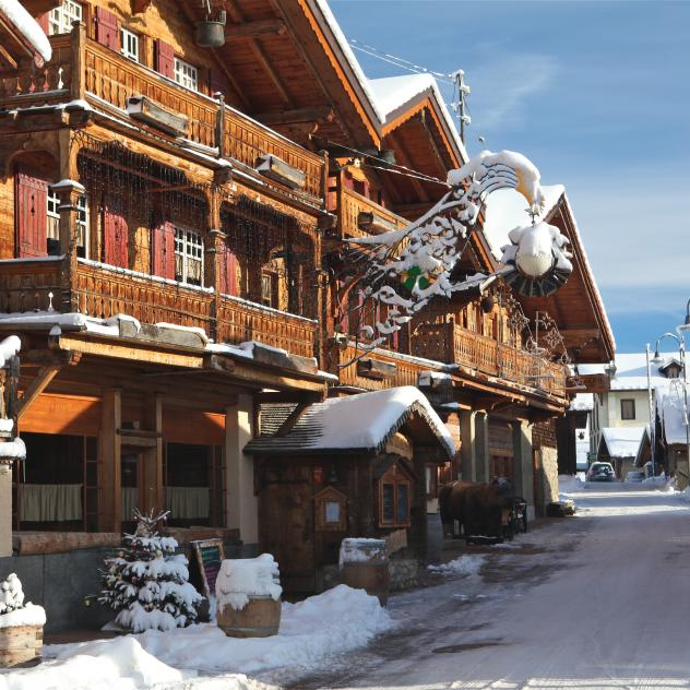 Rue du Village - Winter - Leysin