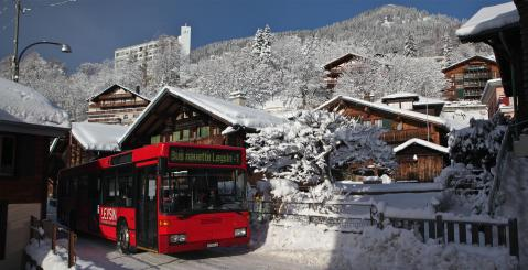 Bus navette - hiver - Leysin