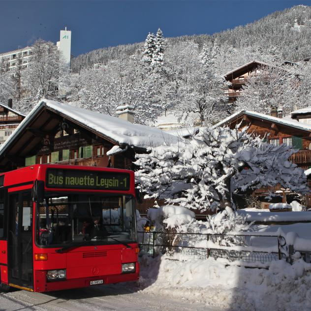 Shuttle-Bus - Winter - Leysin