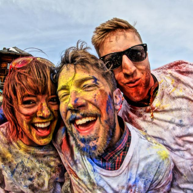 worldwide festival color party