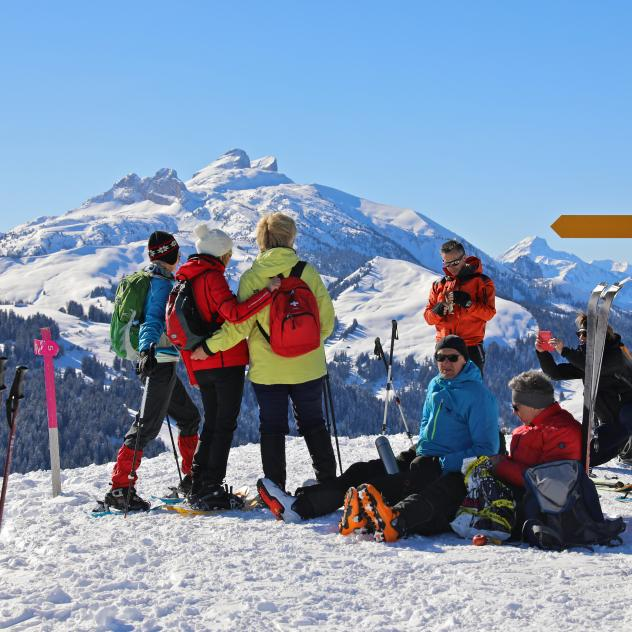 Ski touring in Les Mosses
