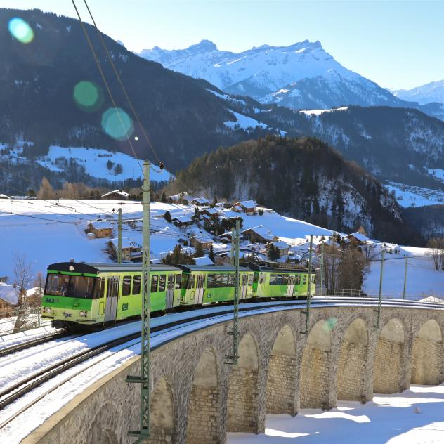 Train Aigle – Leysin