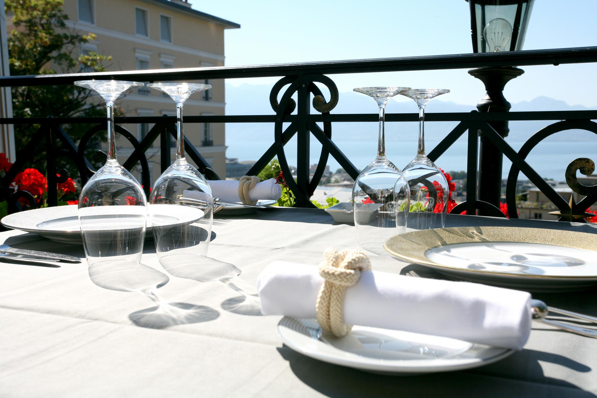 Terrasse - La Table d'Edgard - © Lausanne Palace